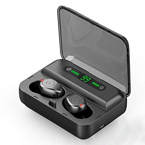 RONSHIN Headphones/Earphones/Earbuds/Headsets Bluetooth Earphone 5.0 TWS Wireless Headphones Noise Canceling Stereo Earbuds Wireless Bluetooth Headset with Mic Black by RONSHIN