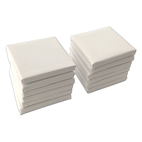 LWR Crafts Mini Stretched Canvas 3 X 3 Pack of 12