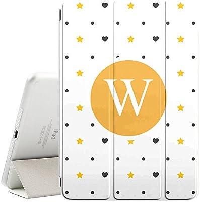 [ W - INITIAL ] [ Apple iPad Mini 1/2/3 ][ Name Monogram Folio Case ] with Auto Sleep / Wake Function [ Stars Hearts Wallpaper ]: Amazon.ca: Electronics