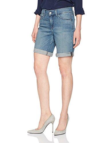 Premium Denim Shorts (NYDJ Women's Jessica Boyfriend Short in Premium Lightweight Denim, Paloma Rips, 4)