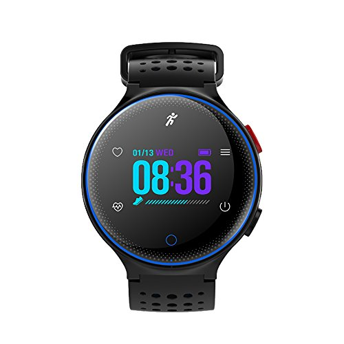 Walmeck Microwear Smart Watch Sport Bracelet SMA Band Fitness Tracker IPS Pedometer Heart Rate Sleep Monitor Call Reminder Wrist Band for iPhone X Plus Samsung S6 S7 Plus Smartphones iOS Android by Walmeck