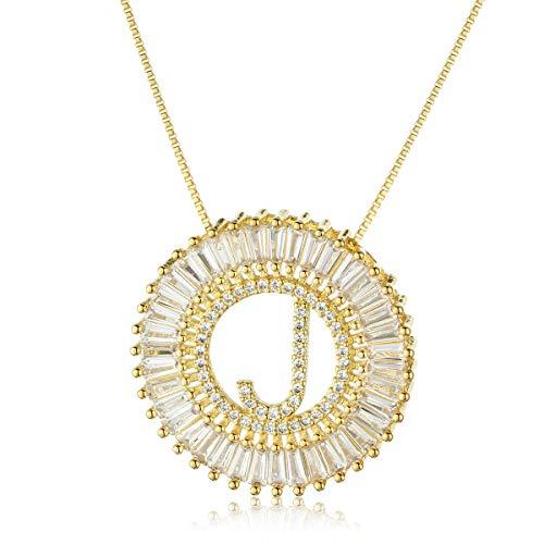 COTTVOTT A-Z Alphabet Pendant Necklaces Charms Women Initial Letter Chain Necklace 4 Colors ()