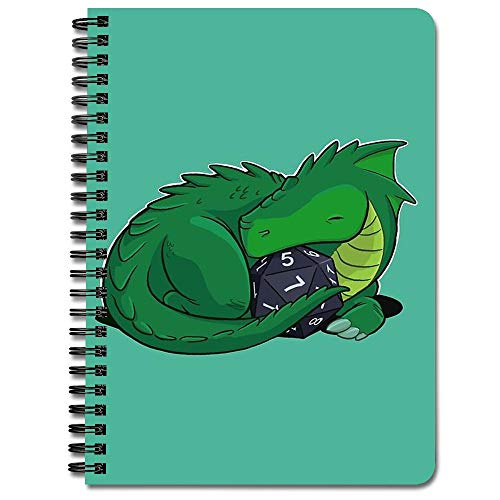 D20 Green Dragon Spiral Notebook (Dragon Leather Green)
