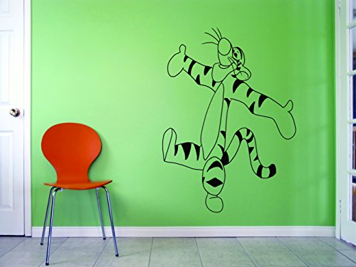 - Winnie the Pooh Wall Decals/Winnie Tigger Eeyore Piglet Rabbit Vinyl Art Stickers for Walls/Designs and decorations Decal for Kids Bedrooms Rooms Tigger Happy Hug Size 20x20 inch