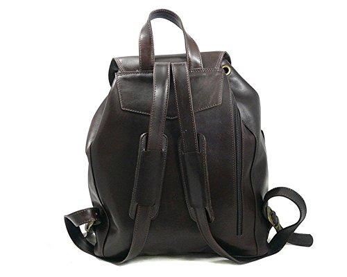 SAGEBROWN Brown Large Leather Rucksack by Sage Brown (Image #2)