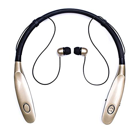 Bluetooth Headphones 14Hr Working Time, Truck Driver Bluetooth Headset, Wireless Magnetic Neckband Earphones, V4.2 Noise Cancelling Earbuds w/ Mic, Compatible with Any Bluetooth - Bluetooth Headset Compatible