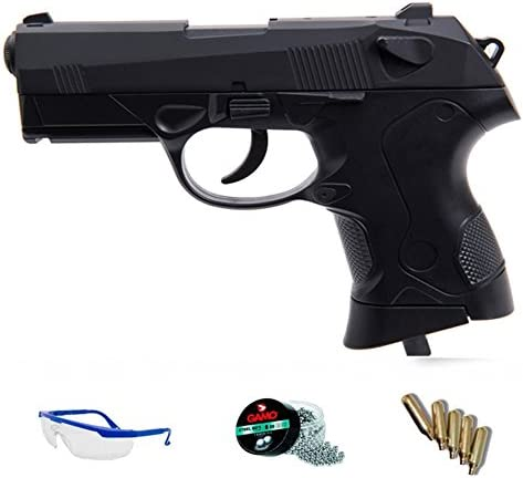 FS 1508 Pack Pistola de Aire comprimido (CO2) y balines de Acero (perdigones BBS) Calibre 4.5mm. Réplica PX4 Compact <3,5J