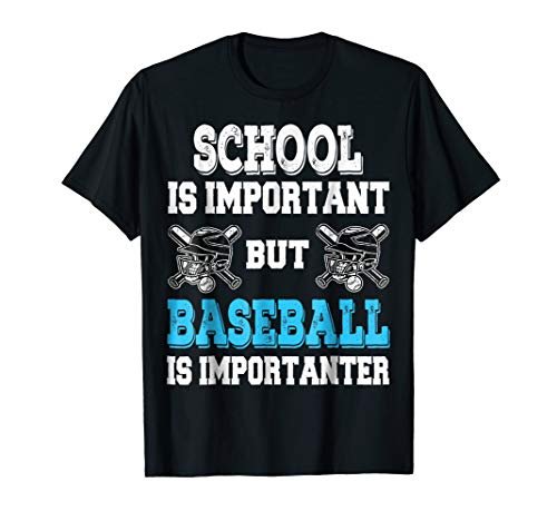 Baseball is Importanter Shirt Funny Helmet and Bat