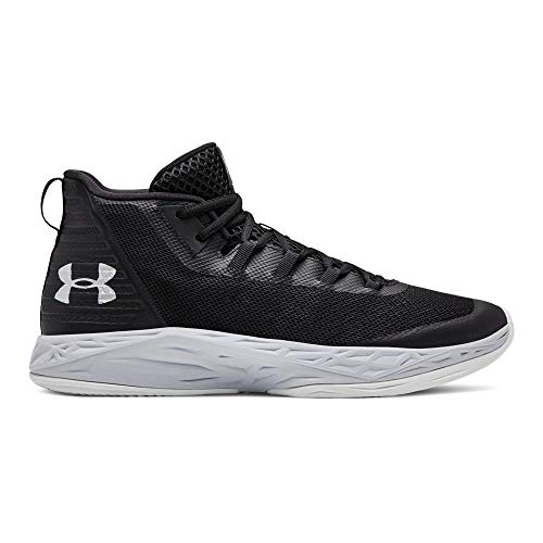 Under Armour Men's Jet Mid Basketball Shoe, Black (003)/Mod Gray, 13 M US