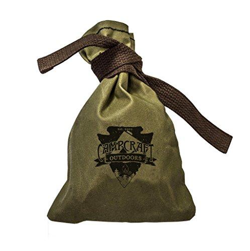 Bushcraft Tinder Bag, Fire Tinder Bag, Camping Bag, Waxed Canvas