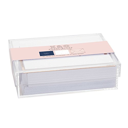 C.R. Gibson Asst Boxed Notes-Acrylic Box Blank Greeting Card (CN70-20864)