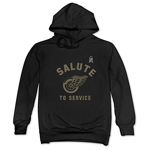 CRIS Detroit Red Wings Salute To Service Hoodies Black For Men (Detroit Salute To Service compare prices)