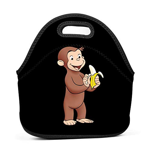 XiuHongShangMAo Curious George Eat Banana Lunch Bag Tote Bag Lunch Organizer Lunch Holder Lunch - Curious George Box Lunch