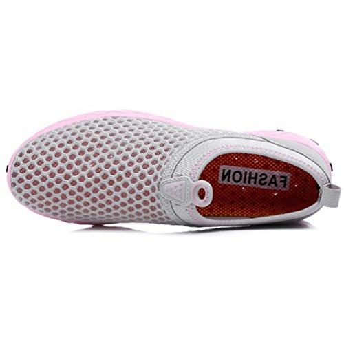 de Nordic Zapatillas Unisex de Walking XIGUAFR gris Adulto Lona rose wOqg6f