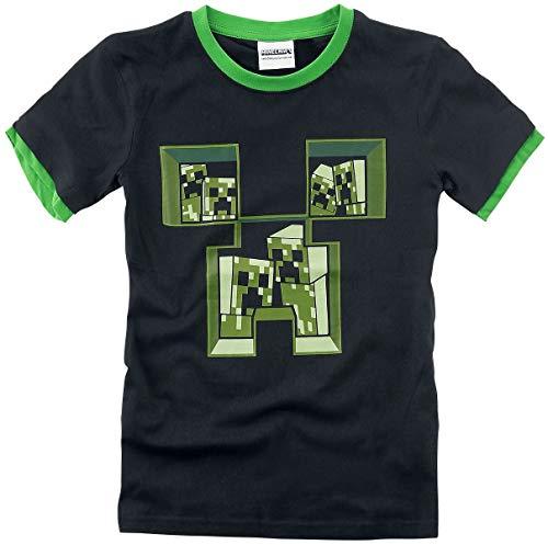 Minecraft T-shirt zwart-groen Baby's & ouders, Fan merch, Gaming, Schurken