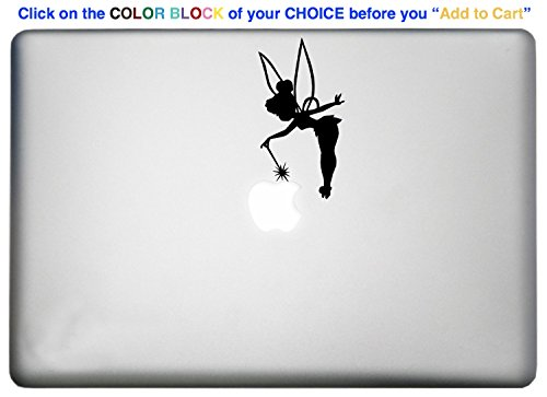 Tinkerbell Fairy Dust Sticker MacBook Pro Decal is a Disney Tinkerbell Fairy Macbook Sticker Silhouette Vinyl Decal. Laptop Sizes 11, 12, 13 and 15 inch. Many Colors-BLACK