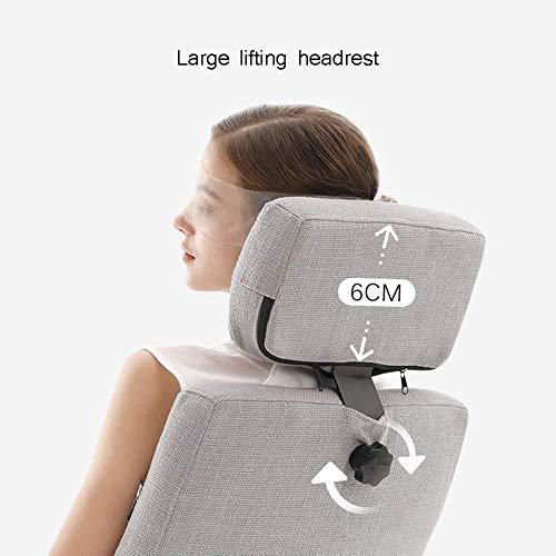 Barstolar Xiuyun kontorsstol spelstol, ergonomiskt tyg verkställande skrivbordsstolar, 360° svängbar stol med sammankopplade armstöd, justerbar höjd 0–170 ° vilande stol