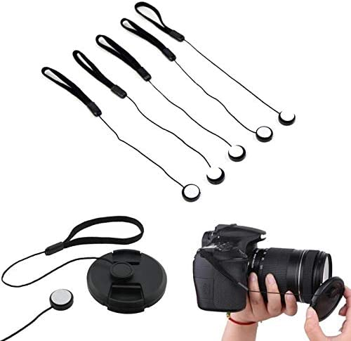 PrinceShop Lens Cover Cap Keeper Holder Rope Hanging Cord For DSLR SLR Camera Anti-Lost Lens Cover Rope