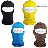 Ultra-Thin Headband Ski Bike Bicycle Face Mask Outdoor Sports Helmet Balaclava Full Face Mask for Sun UV Protection (Black)