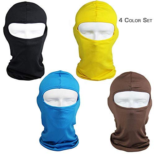 Ultra-Thin Headband Ski Bike Bicycle Face Mask Outdoor Sports Helmet Balaclava Full Face Mask for Sun UV Protection (Black) (Sun N Ski)