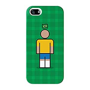 Brazil Full Wrap High Quality 3D Printed Case for iPhone 5 / 5s by Blunt Football International + FREE Crystal Clear Screen Protector