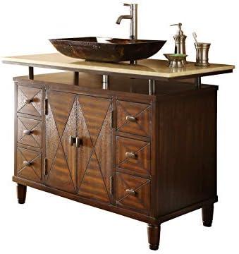 48 Verdana Vessel Sink Bathroom Vanity – Faucet vessel all inclusive Q136-8X