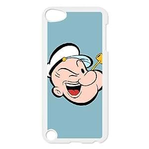 W0J27 Popeye el Marino S5H4WN funda iPod Touch 5 funda la cubierta del caso AQ5QES3OH blanco