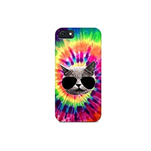 iPhone 6/iPhone 6S - Hard Plastic Case - Cat Addiction - Tiedye Background - Cat With Sunglasses - Cool Cat - Animals - Printed Iphone Case