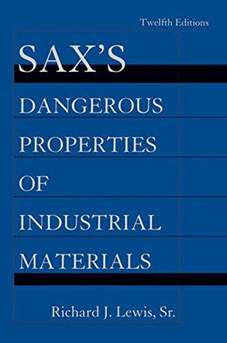 Saxs Dangerous Properties Of Industrial Materials  5 Volume Set