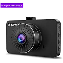 """Dash Cam, DESPKON 1296P FHD Car DVR Dashboard Camera with 3.0"""" LCD Screen 170°Wide Angle, G-Sensor, Loop Recording, Motion Detection and Night Vision"""