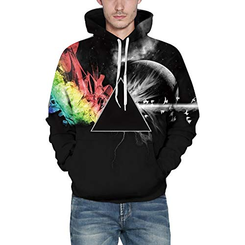 WOCACHI Mens Hoodies 3D Creative Pattern Pullover Hooded Sweatshirt Novelty Top Clearance Sale Promotion Deal Autumn Winter Warm Tops Blouses Shirts