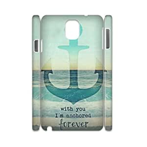Cheap 3D Hard Protective Plastic Case for Samsung galaxy note 3 N9000 - Retro Nautical Anchor CM05L9978