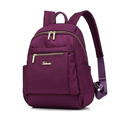 Chiffon à Purple Sac Femelle Sac Décontracté Coréen medium Nylon Dos Marée Mode MSZYZ et en Sac Sac Oxford w8xAq