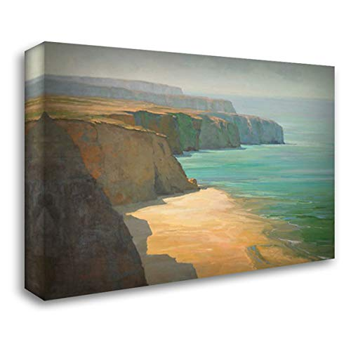 The Cliffs 60x40 Extra Large Gallery Wrapped Stretched Canvas Art by Hall, Robin