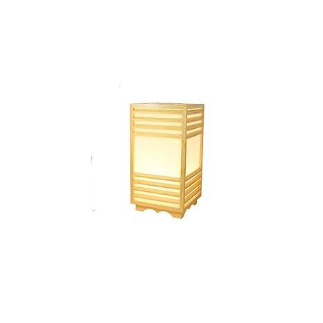 YU-K Lámpara de mesa japonesa dormitorio lámpara lámpara de pie de ...