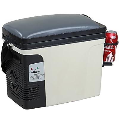 Generic 12V Thermoelectric RV Car Cooler Warmer Portable Mini Truck Refrigerator 110V Office Home Food Heater Beverage Cooler Fridge,6L