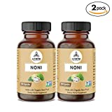 360 Capsules Organic Noni Fruit -100% Organic Noni Fruit Powder, 600mg Per Serving | Veg Capsules (2 Pack of 180 Cap Each) Review