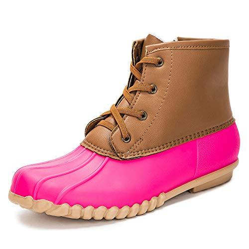 DKSUKO Kids Rain Duck Boots with Waterproof Lace Up(Little Kid/Big Kid)