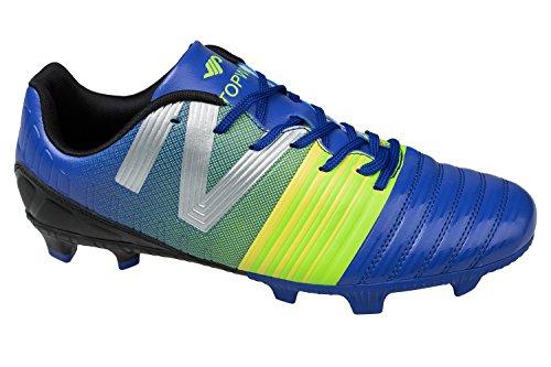 GIBRA® Herren Fußballschuhe, blau/neongrün, Gr. 43
