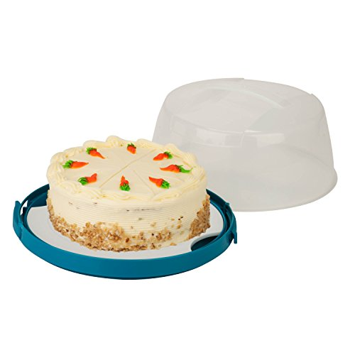Honey-Can-Do KCH-03840 Round Cake Carrier with Locking Lid and Handle