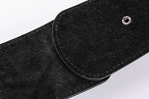 Ayli Womens Waist Belt, Metal Horseshoe Hook Leather Wide Elastic Stretch Cinch Belt, Black, Fits Waist 29'' to 35'' (US Pant/Dress Size 6-14), bt6b510bk by As You Like It (Image #4)'