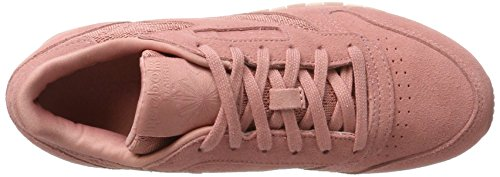 Reebok Damen CL Lthr Lace Gymnastikschuhe Pink (Sandy Rose/White)