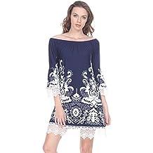 Aris Women's Lace Trim Tunic Top Dress Bundle: Dress & Wash Bag reg & Plus Size