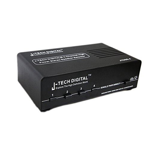 J-Tech Digital 4-channel High Power Stereo Speaker Selector