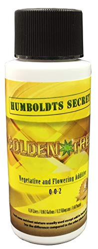 Humboldts Secret Best Plant Food for Plants and Trees Golden Tree, Explosive Growth, Yield Increaser, Dying Plant Rescuer, Use on Flowers, Roses, Fruit, Vegetables, Tomatoes, Organic (2 Ounce)