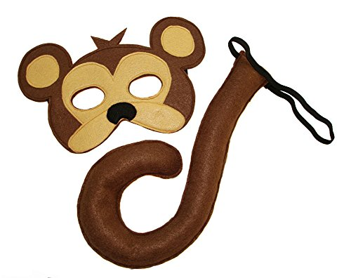 Children's Deluxe Monkey Mask & Tail Costume -