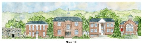 Mars Hill College - Collegiate Sculptured Ornament by Sculptured Watercolor Ornaments
