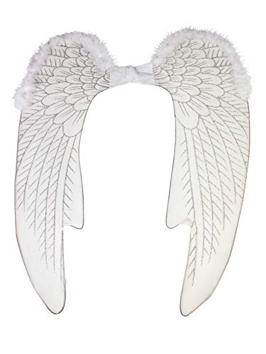 Forum Novelties 74727 Party Supplies Women's Deluxe Angel Wings, Large, White, Multi