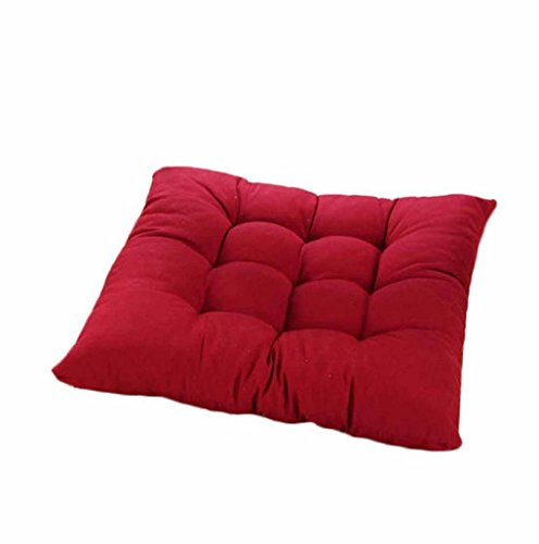 Highly Recommanded Choice! Soft Chair Cushion; Nice Square Pads; Necessary Home Decoration (Red)