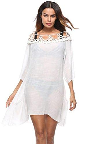 Bagno Copertura Spiaggia Ups Estate Joygown Donne Delle E Usura Da Costumi Protezione Per Bianco Solarizzazione Stile 0TATqw4
